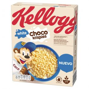 Cereales chocokrispies chocolate blanco kelloggs 350gr