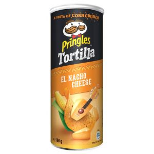 Tortilla nacho queso pringles lata 160g