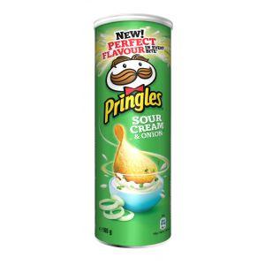 Patatas fritas  sour cream pringles lata 165g
