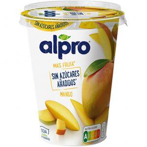 Yogur sin azucar mango alpro 400gr