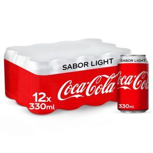 Refresco light cola coca cola  lata p-12 33cl