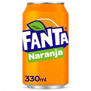 Refresco  naranja fanta lata 33cl