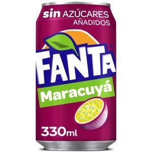 Refresco s/azucar maracuya fanta lata 33cl