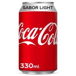 Refresco light cola coca cola  lata  33cl