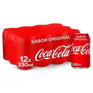 Refresco  cola coca cola  lata p-12 33cl