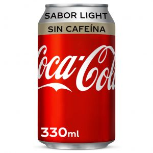 Refresco light s/caf cola coca cola  lata 33cl