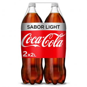 Refresco light cola coca cola  pet p-2 2l