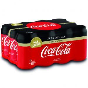 Refresco zero zero cola coca cola   p-12 33cl