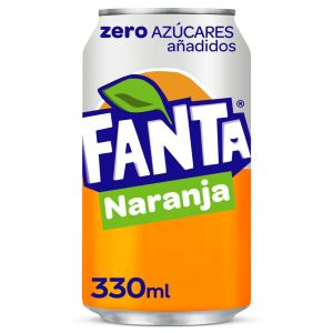 Refresco zero naranja fanta lata 33cl