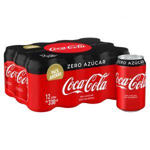 Refresco zero  cola coca cola  lata p-12 33cl