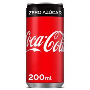 Refresco cola zero coca cola lata 20cl