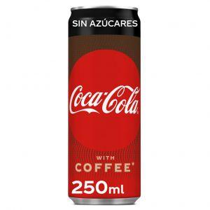 Refresco de cola plus coffee sin azúcar coca-cola lata 25cl