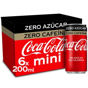 Refresco cola zero zero coca cola lata p-6x20cl