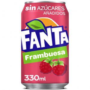 Refresco s/azucar frambuesa fanta lata 33cl