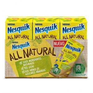Batido all natural choco nesquik p-3 180ml