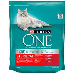 Comida gato estirilizado buey y trigo one  800g