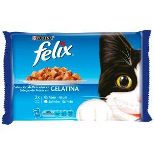 Comida gato pescado felix  p4x100g