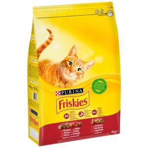 Comida gato adulto buey/verdura friskies 4k