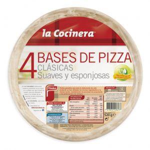 Bases pizza la cocinera p4x130g