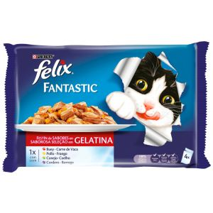 Comida gato carnes felix  p4x100g