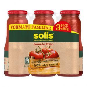 Tomate frito solis formato frasco 3x360g