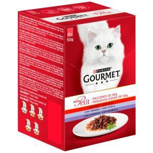 Comida gato seleccion de carnes gourmet  mom petit p6x50g