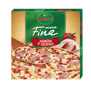 Pizza fina queso/jamon buitoni 320g