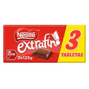 Chocolate con leche  nestle  p-3x125gr