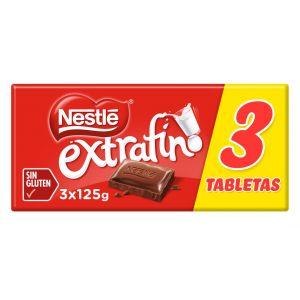 Chocolate con leche  nestle  p-3x125gr