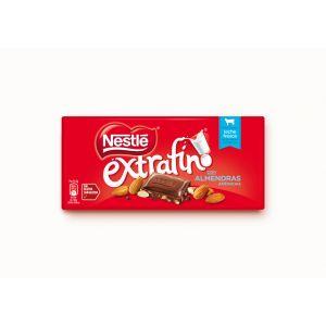 Chocolate  con almendras nestle  123g