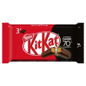 Chocolatina dark 70% kit kat  p3x41,5g