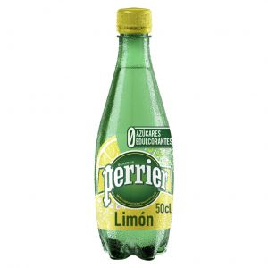 Agua mineral con gas limón perrier botella 50cl