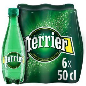 Agua mineral con gas perrier botella 50cl