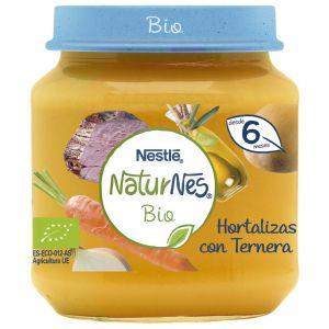 Tarrito bio hortalizas con ternera naturnes 190gr