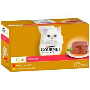 Comida gato fondant pollo atun gourmet gold p4x85gr