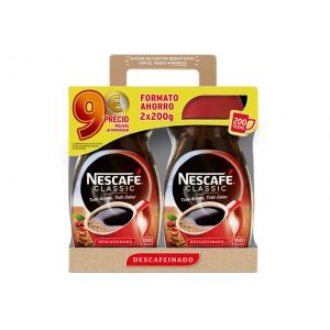 Cafe soluble descafeinado nescafe 2x200 gr