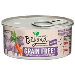 Comida húmeda para gatos humeda de buey y zanahoria beyond lata 85g
