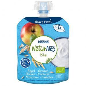 Pouche manzana y cereales naturnes bio milkie  90g