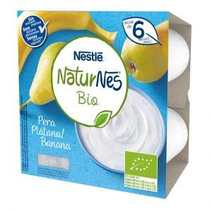 Postre lacteo bio plat pera naturnes  p4x90g