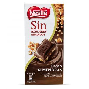 Chocolate negro sin azucar con almendras nestle  125g