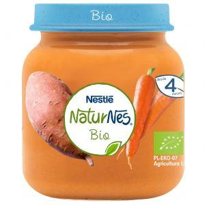 Tarrito bio zanahoria y boniato naturnes 125gr