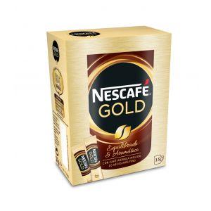 Cafe soluble gold nescafe stick 15x1,8gr