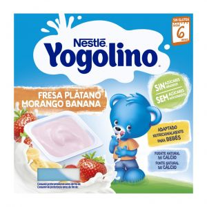 Postre lacteos s/az platano y fresa yogolino nestle p4x100gr