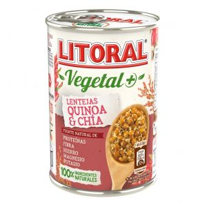 Lentejas quinoa chia litoral lata 415gr