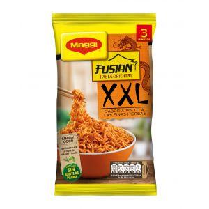 Pasta oriental xxl pollo con  finas hierbas maggi 185g