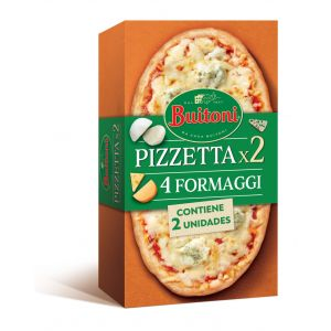 Pizzeta 4 quesos buitoni pack2 185gr