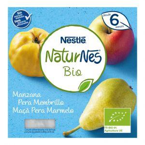 Tarrito bio manzana, pera y membrillo naturnes p4 x90gr