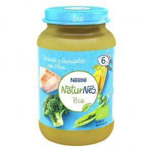 Tarrito bio brocoli, guisante  y pavo naturnes 190gr