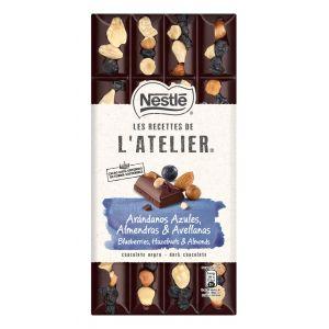 Chocolate negro arandanos y  avelllana   atelier 170gr