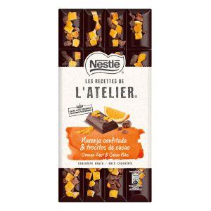 Chocolate negro naranja  atelier 170gr